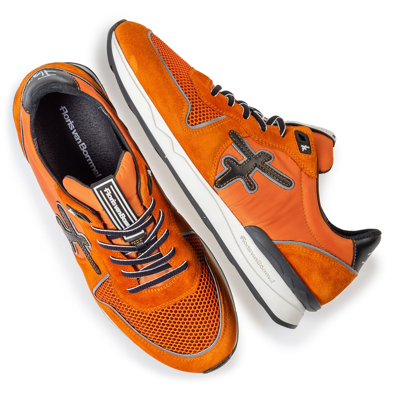 16284/02 - Sneaker orange Wildleder