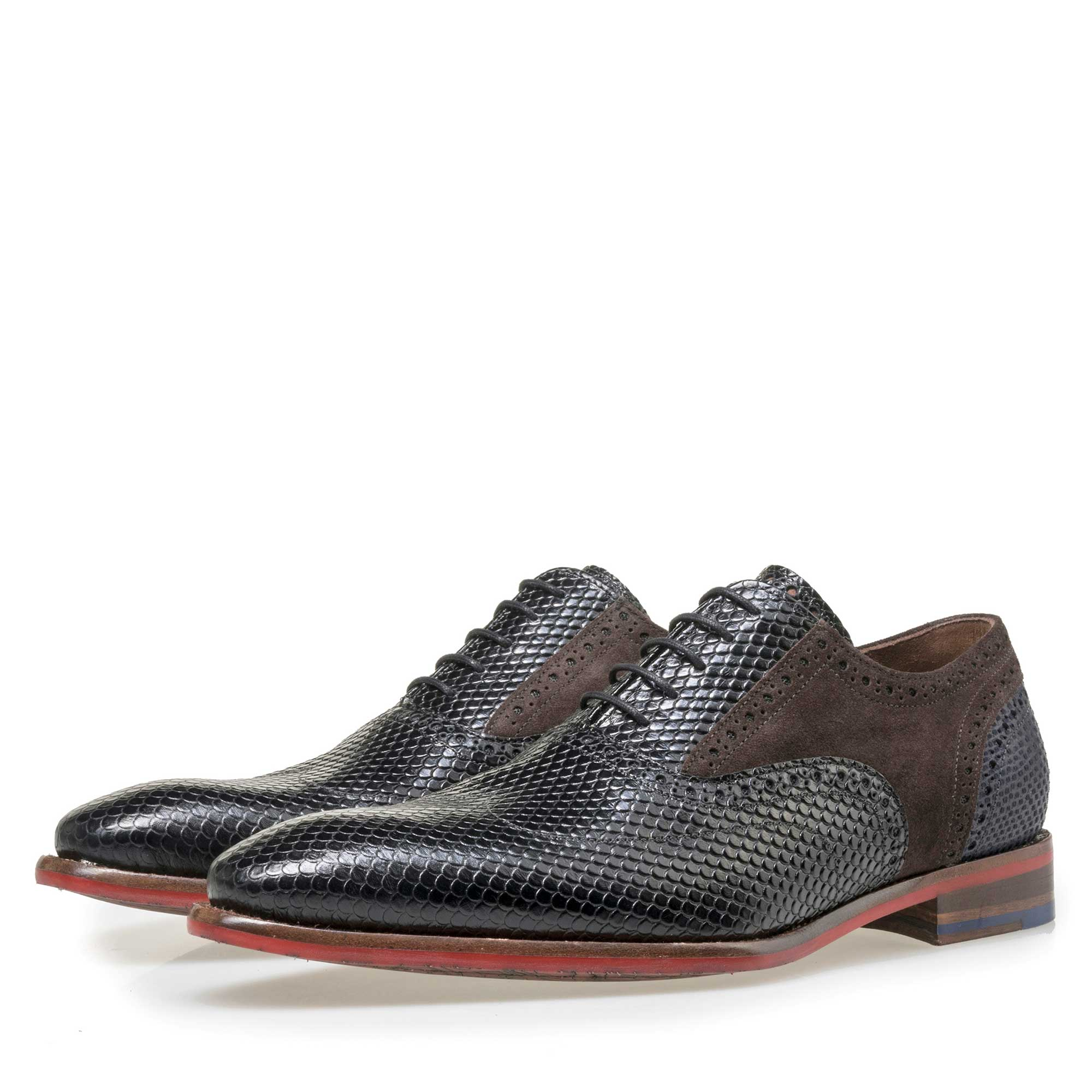 19104/04 - Floris van Bommel men's black leather lace shoe