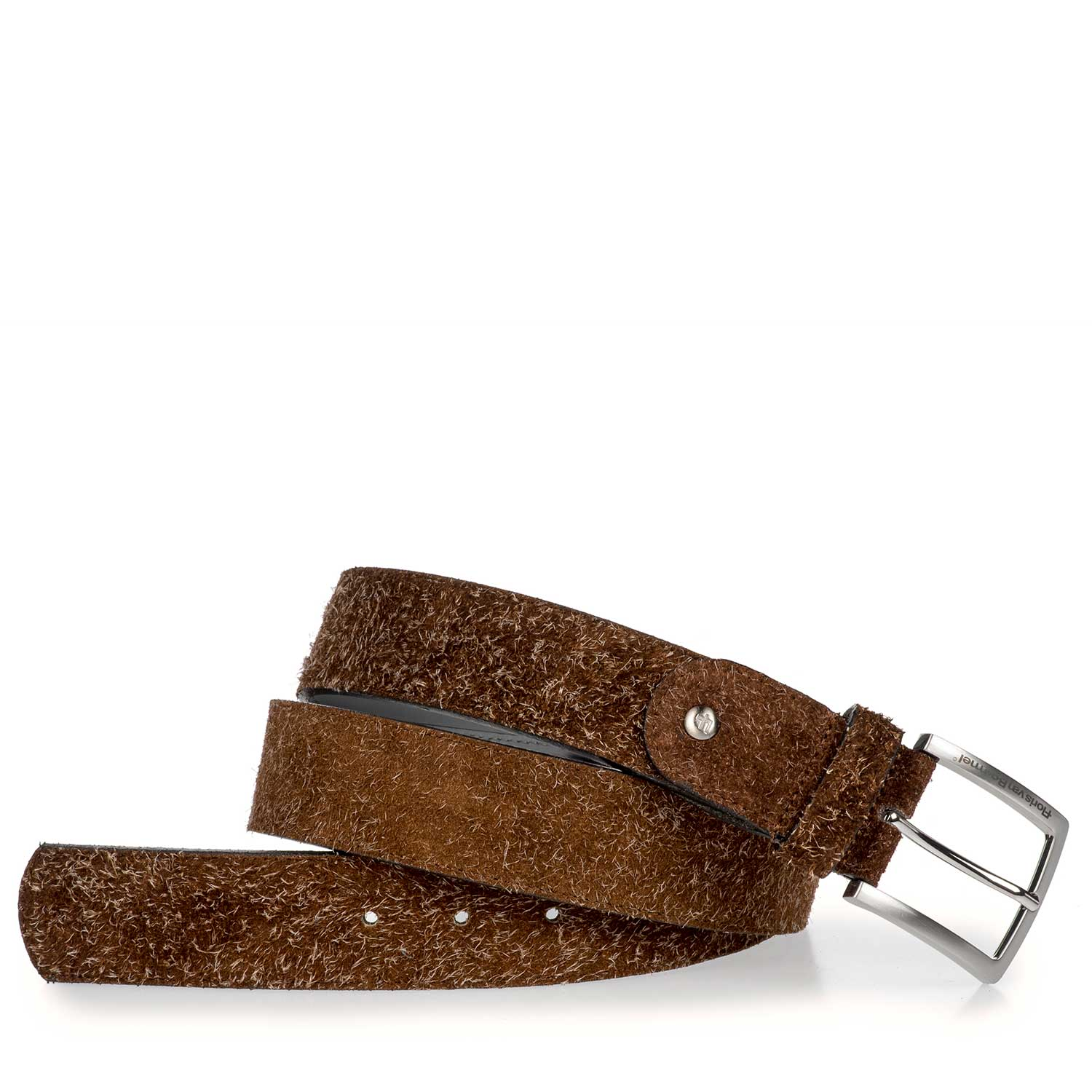 75191/02 - Brown rough suede leather belt
