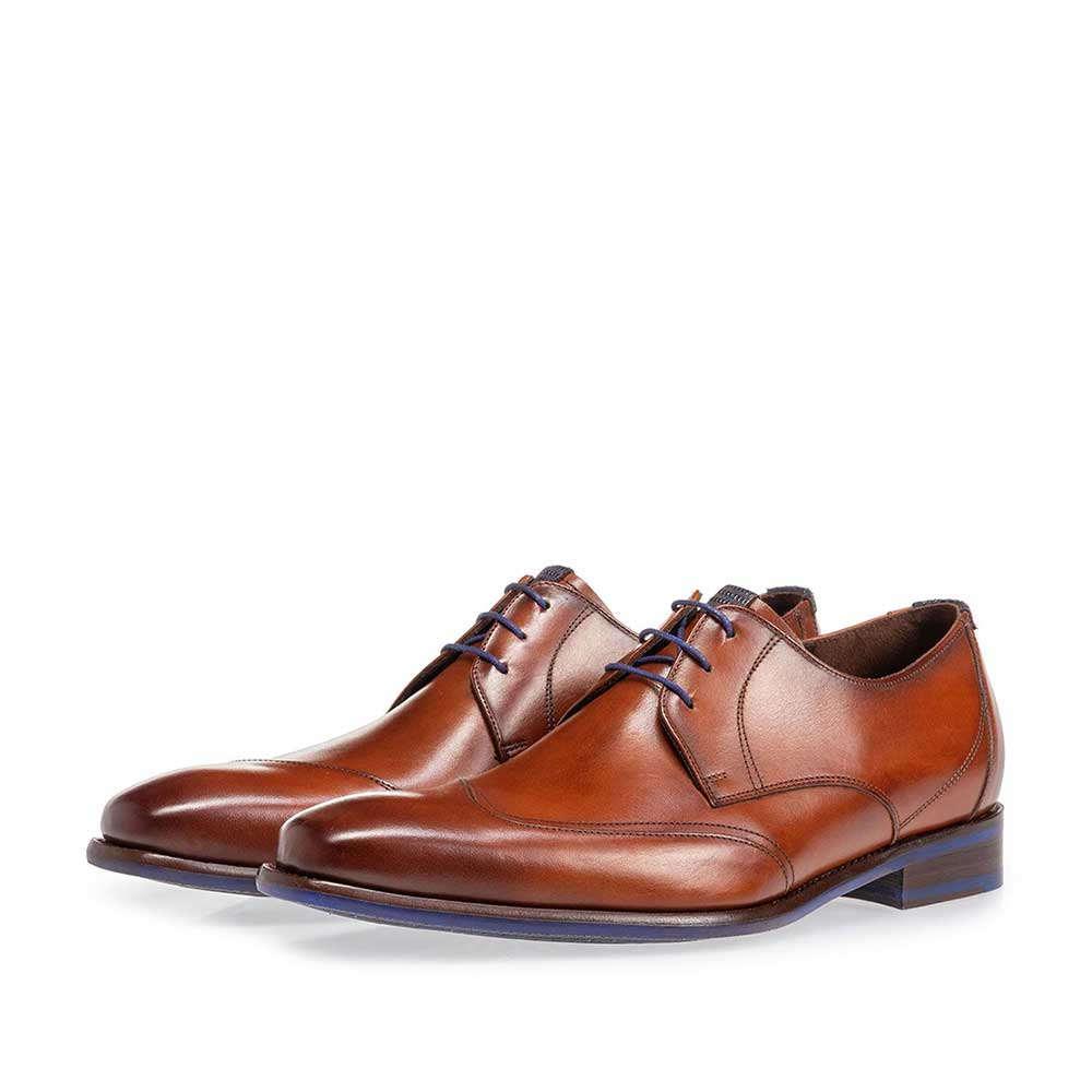 18133/00 - Lace shoe cognac calf leather