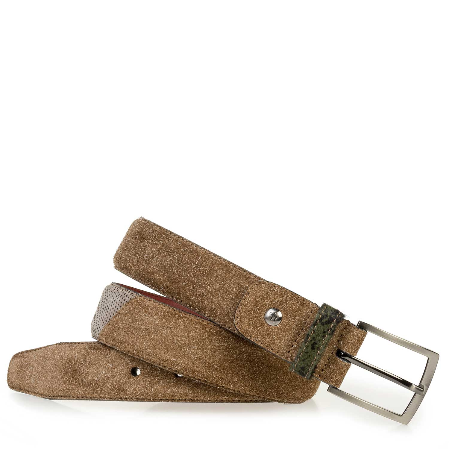 75188/29 - Brown rough suede leather belt