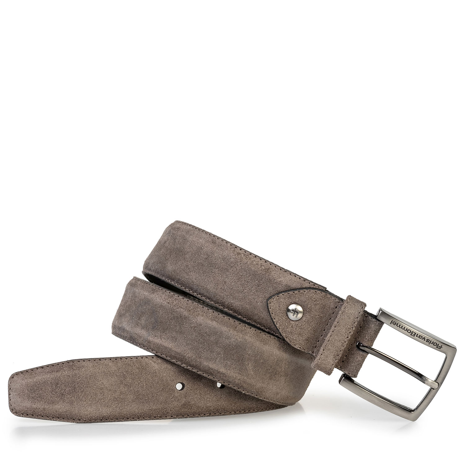 75202/98 - Suede leather belt dark taupe