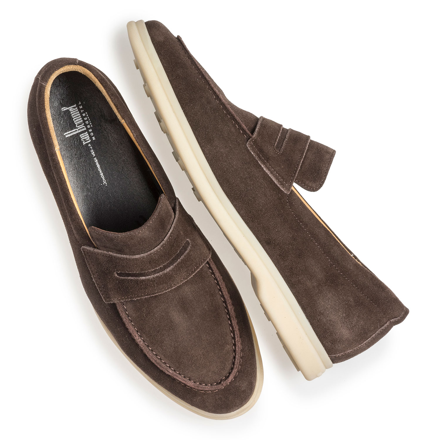 11205/00 - Dark brown suede leather loafer