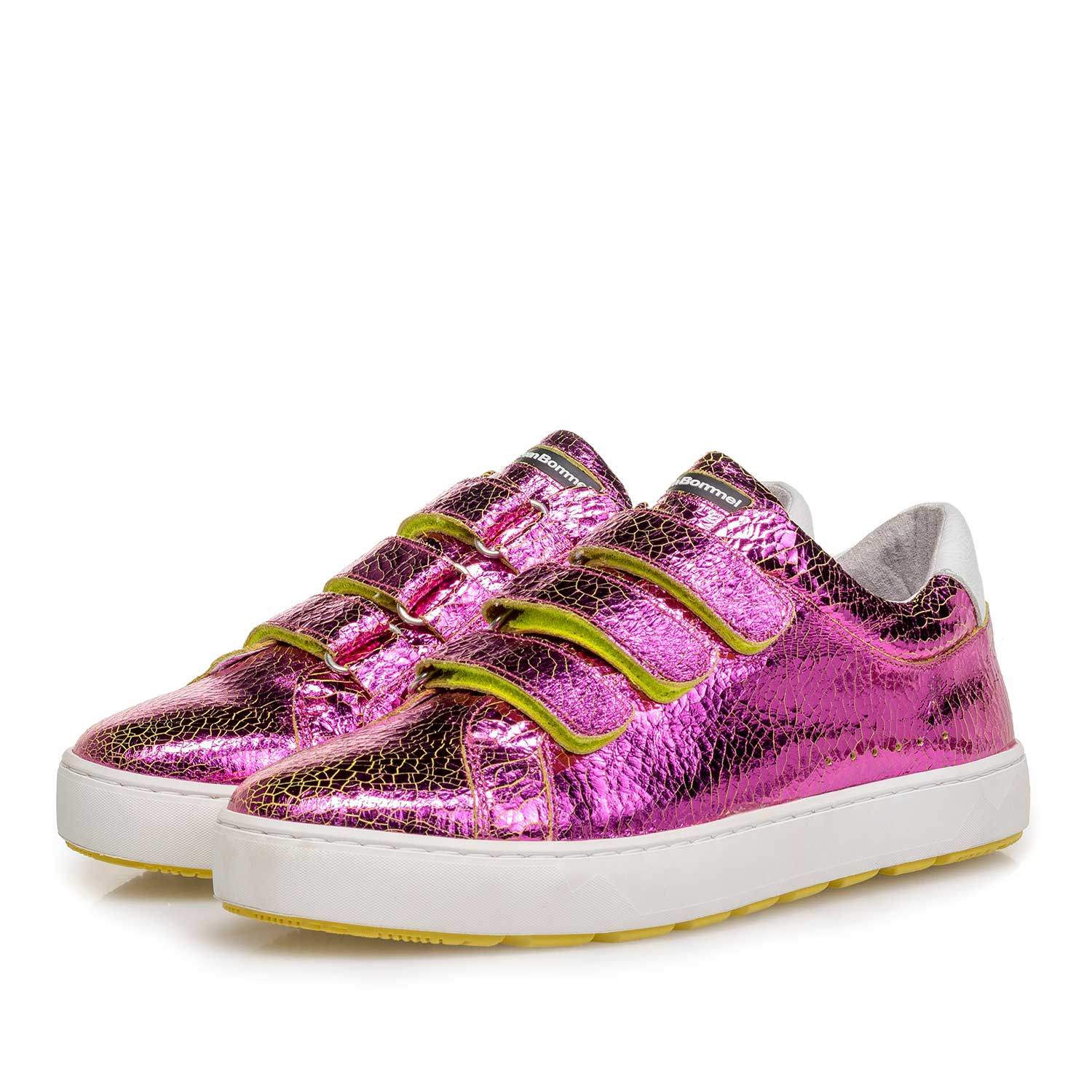 85273/18 - Pink metallic leather sneaker with craquelé effect