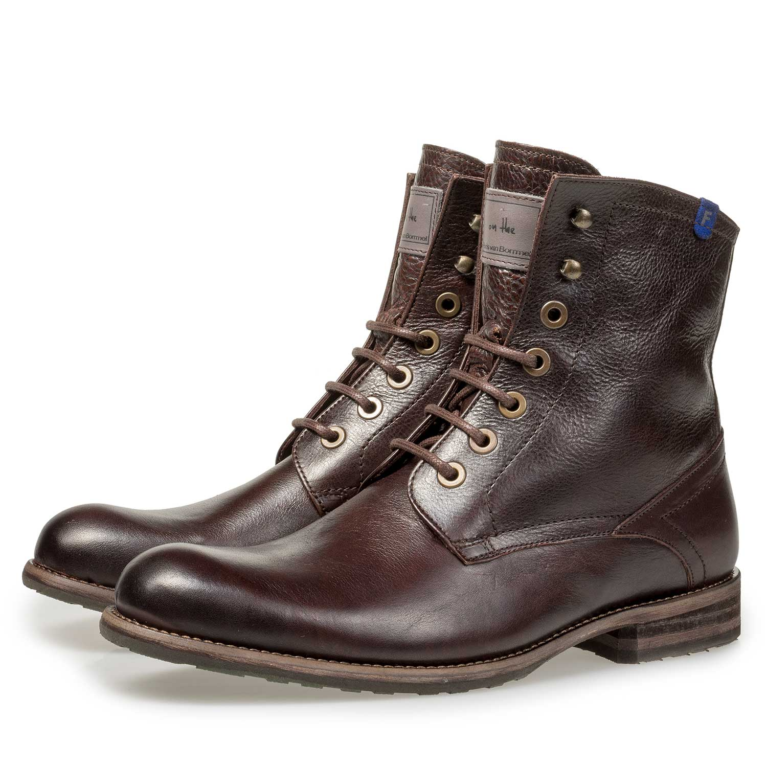 10751/15 - Brown lined calf leather lace boot