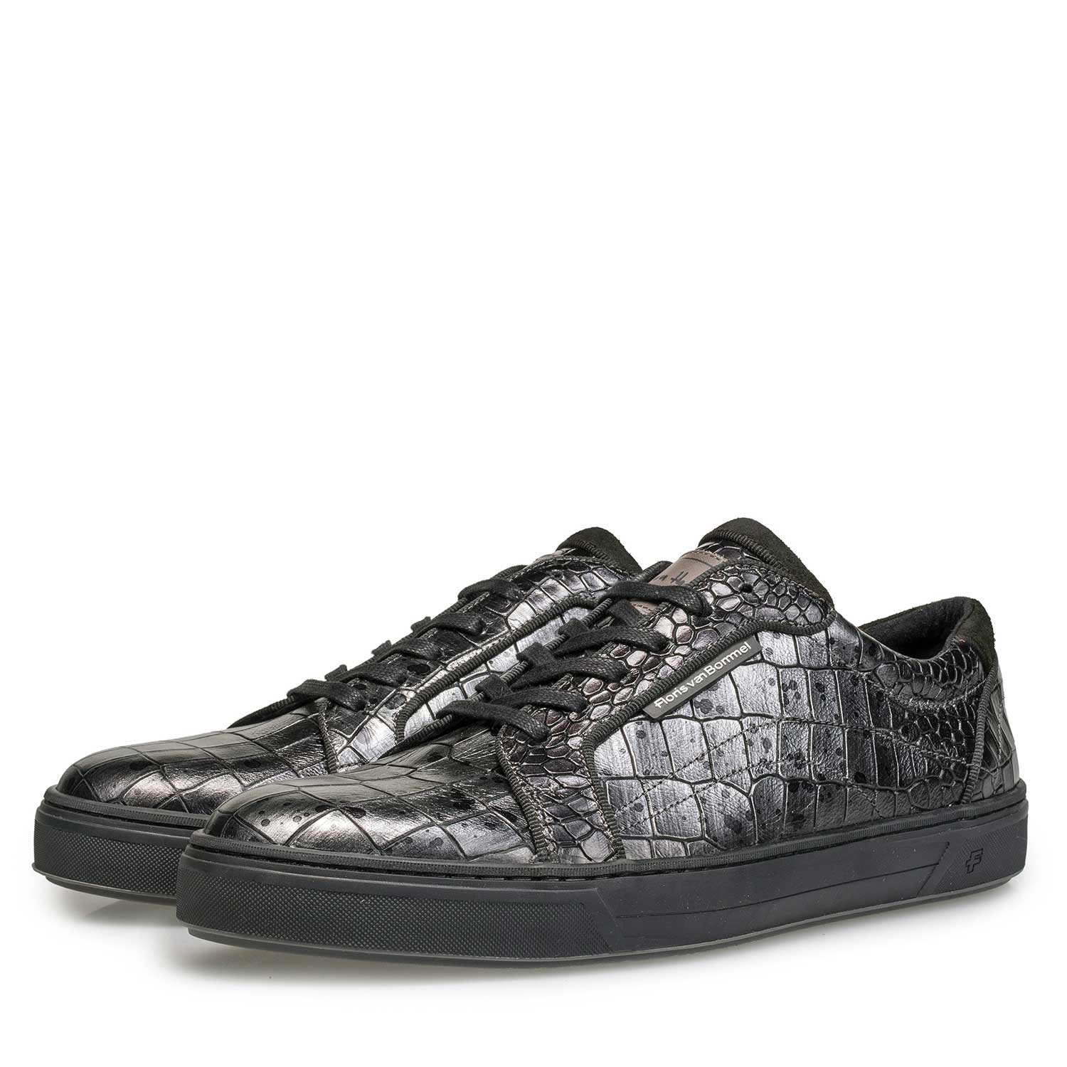 13214/03 - Leather sneaker with croco print