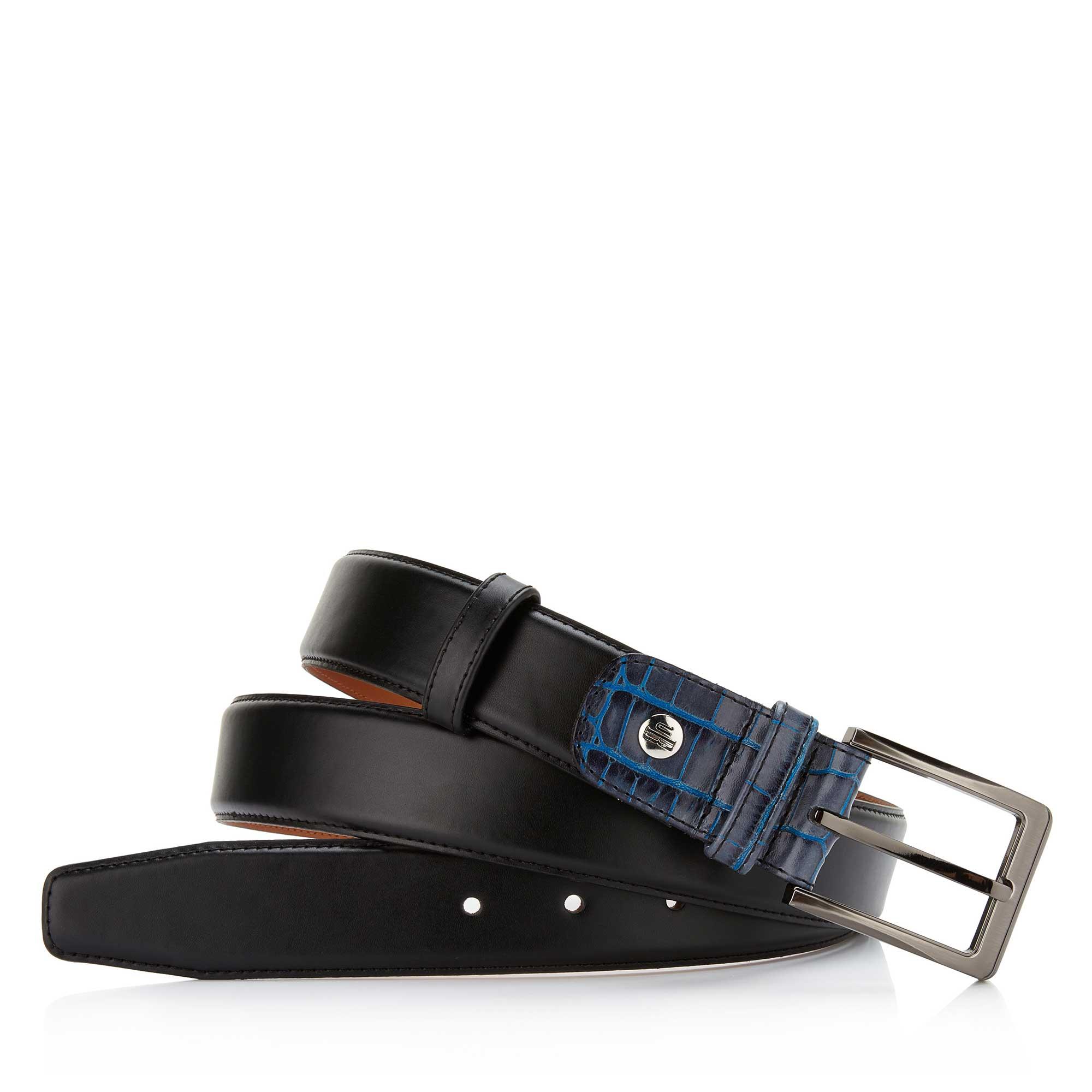 Black Leather Mens Belt 7505501 Floris Van Bommel