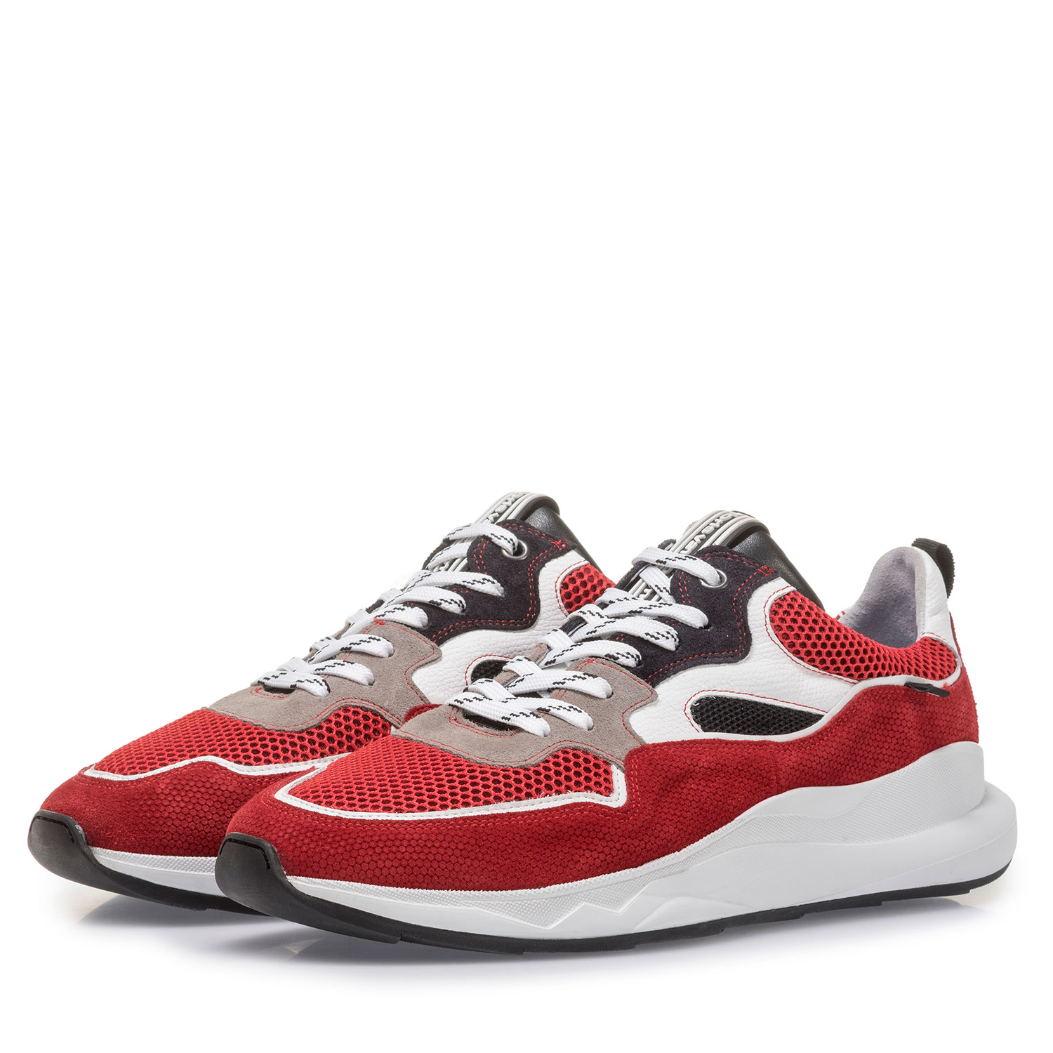 16269/20 - Multi-colour red and white suede leather