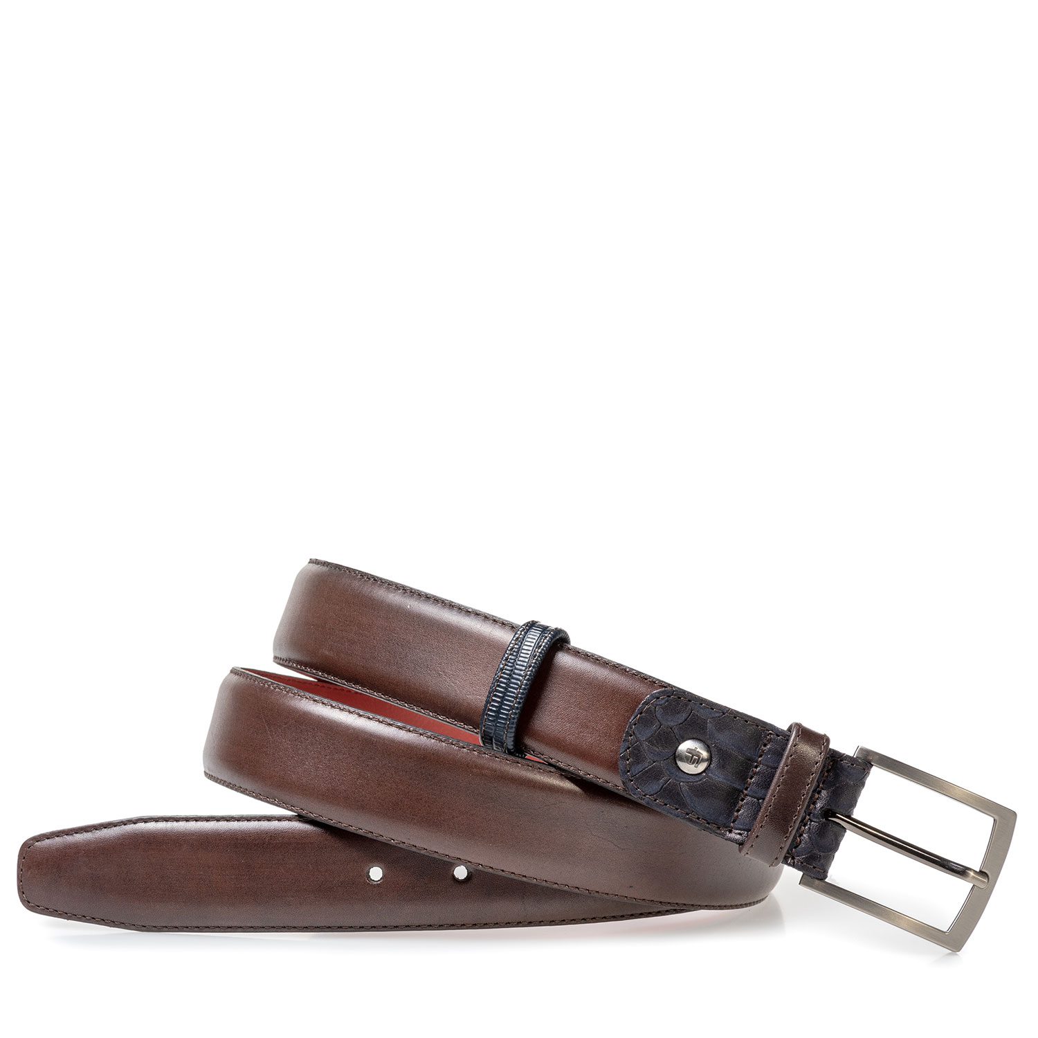 75160/02 - Dark brown leather belt