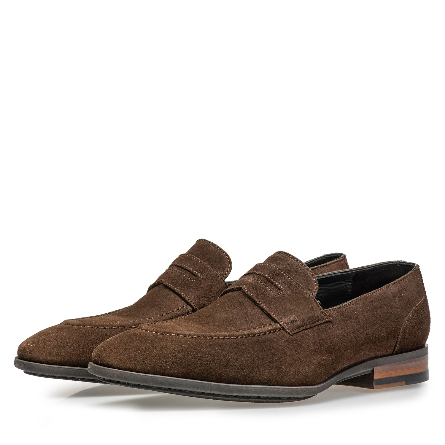 11129/02 - Dark brown suede leather loafer