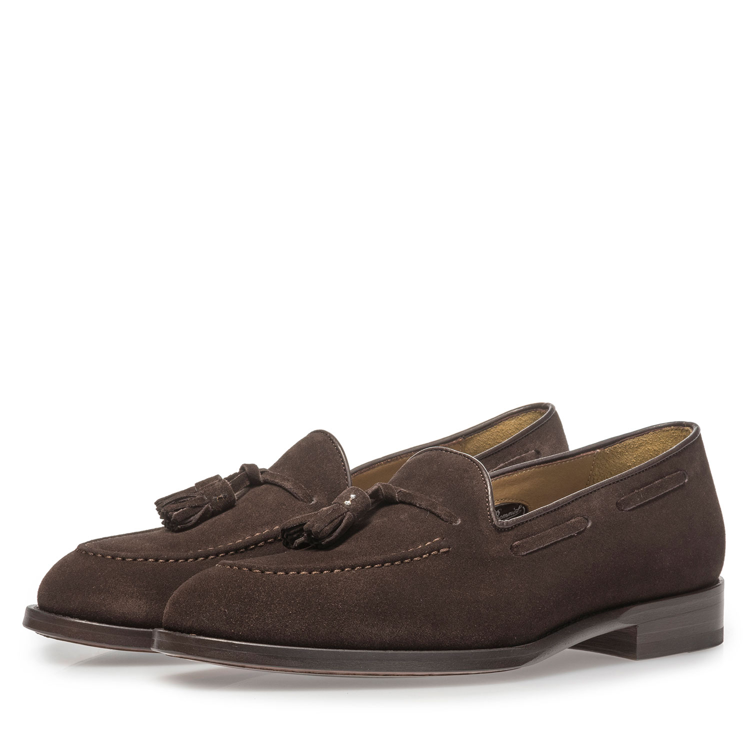 11131/04 - Dark brown suede leather loafer