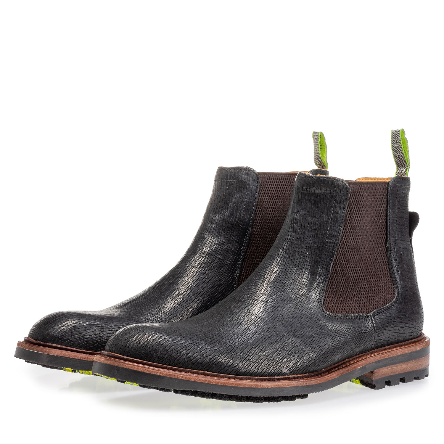20093/01 - Chelsea boot black with print