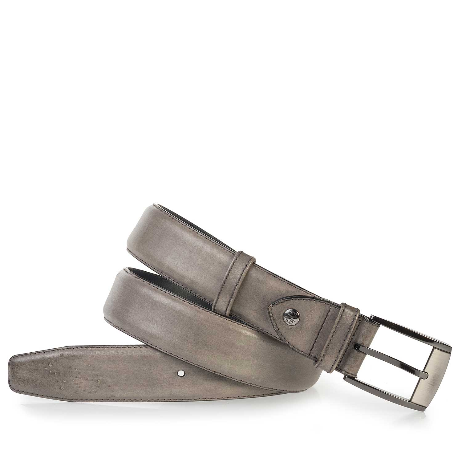 75177/00 - Taupe-coloured, perforated leather belt