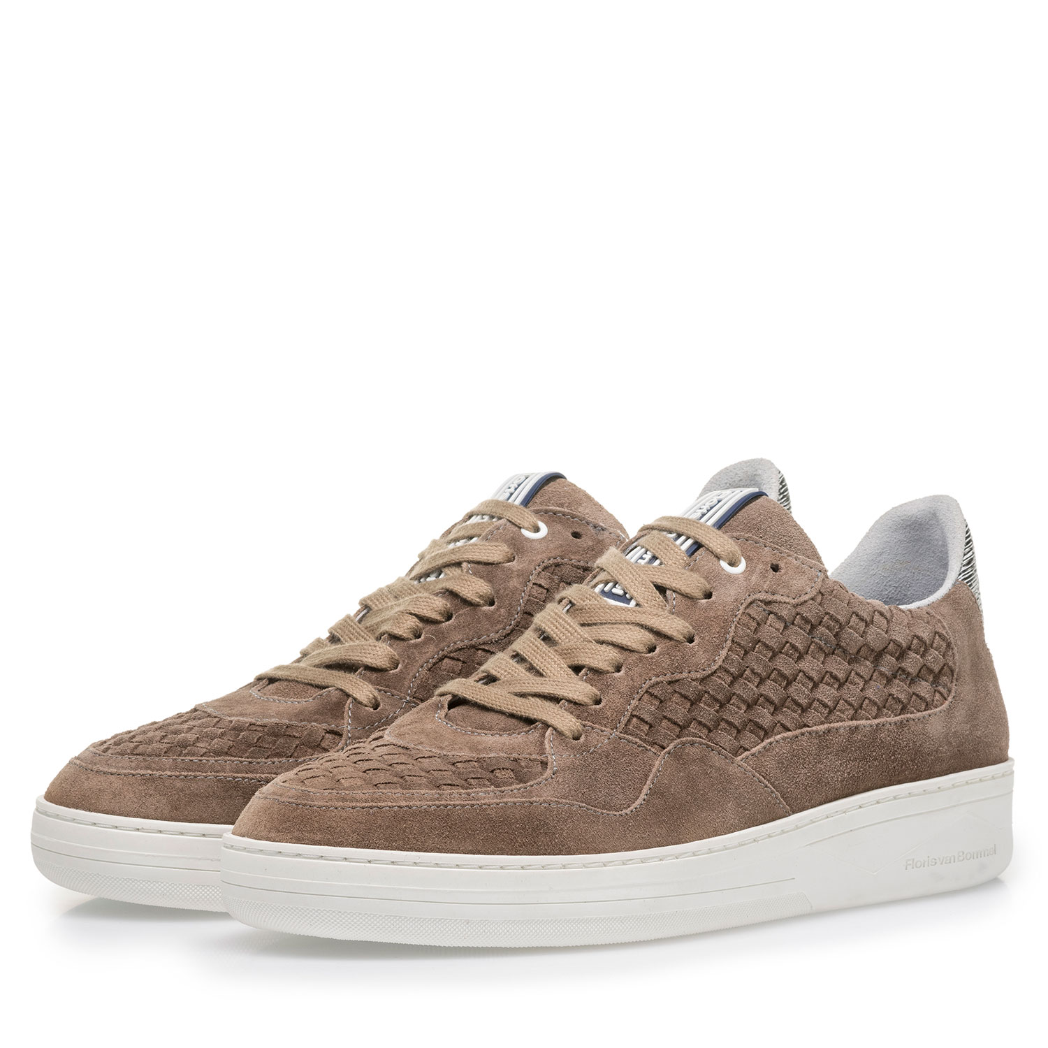 16265/01 - Taupe-coloured suede leather sneaker