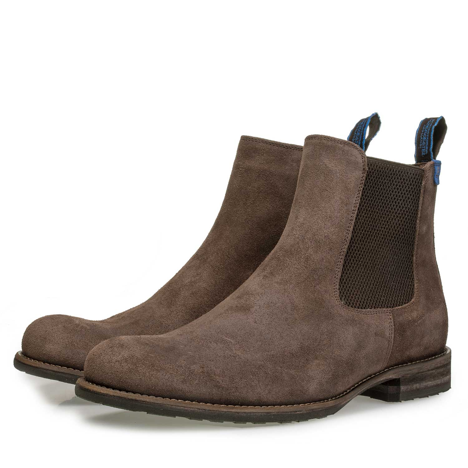 10289/00 - Wool lined brown suede leather Chelsea boot
