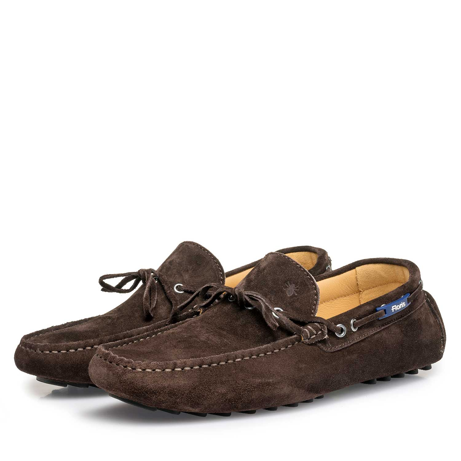 15214/00 - Dark brown calf suede leather moccasin