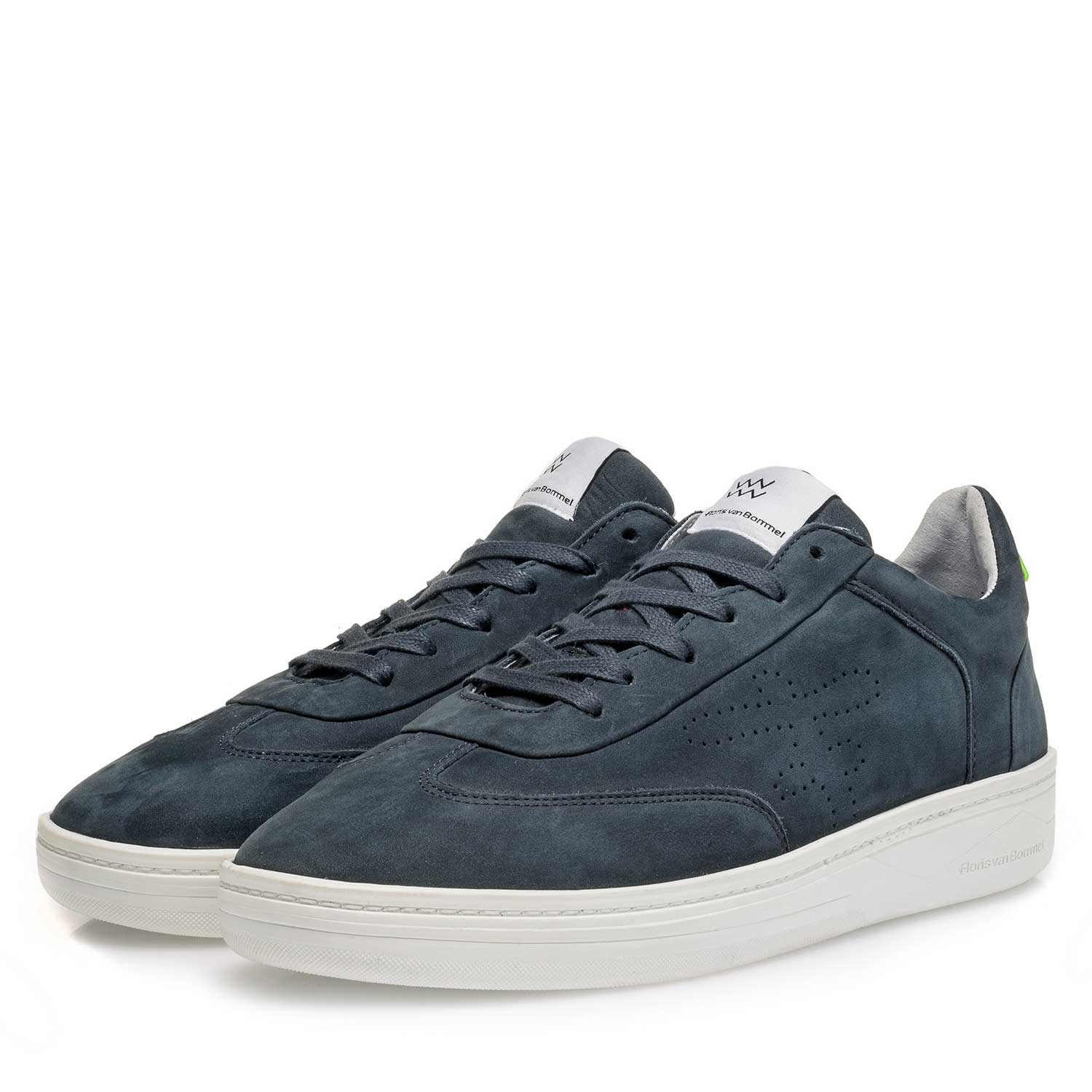 16255/01 - Blue nubuck leather sneaker