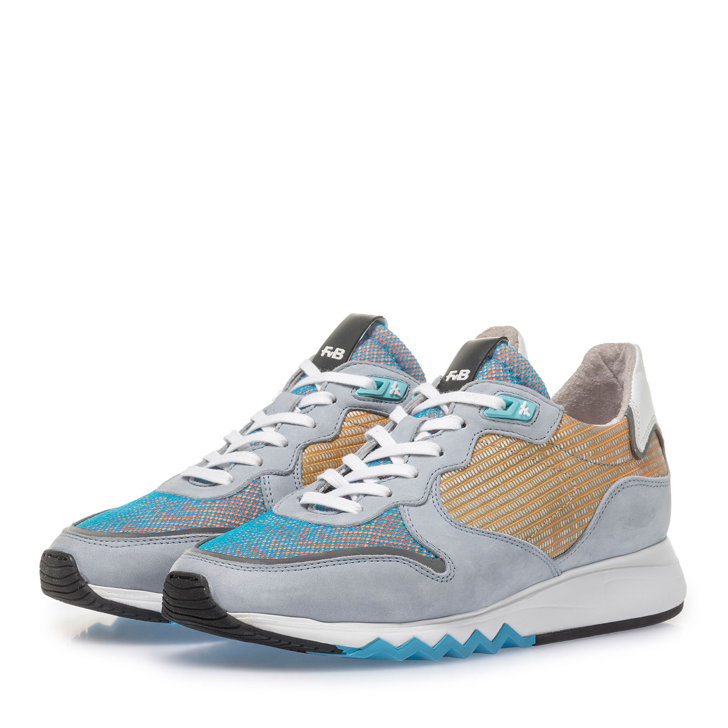 85302/06 - Light blue nubuck leather sneaker