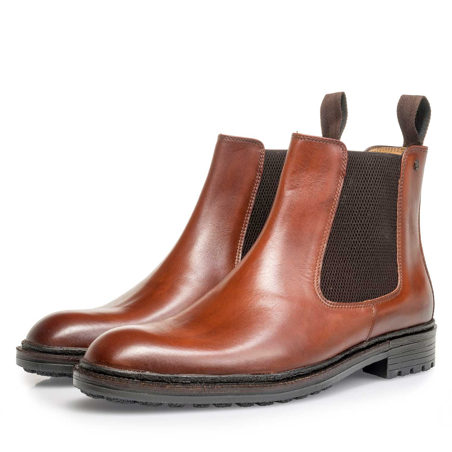 10355/06 - Cognac-coloured calf leather Chelsea boot