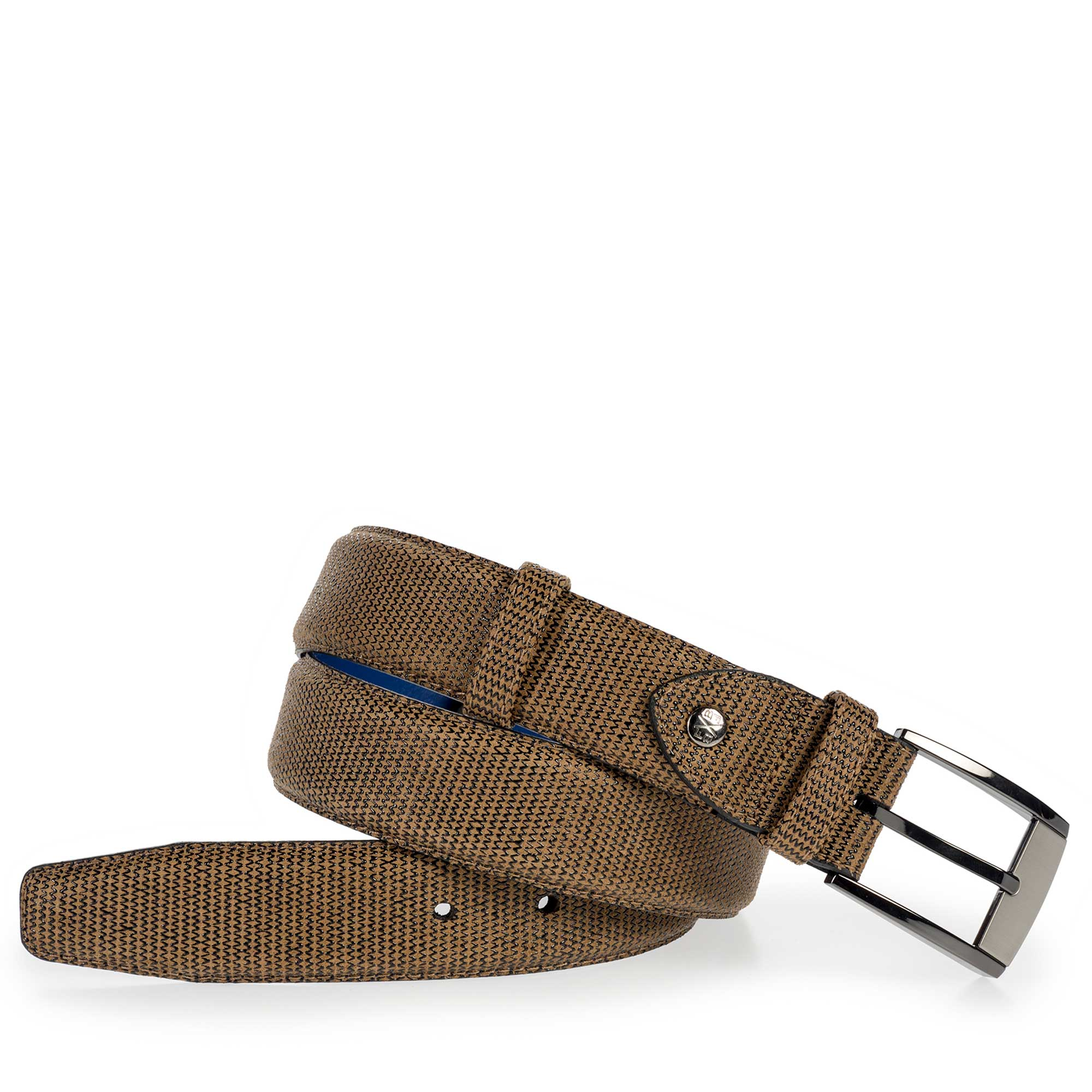 75180/20 - Brown suede leather belt