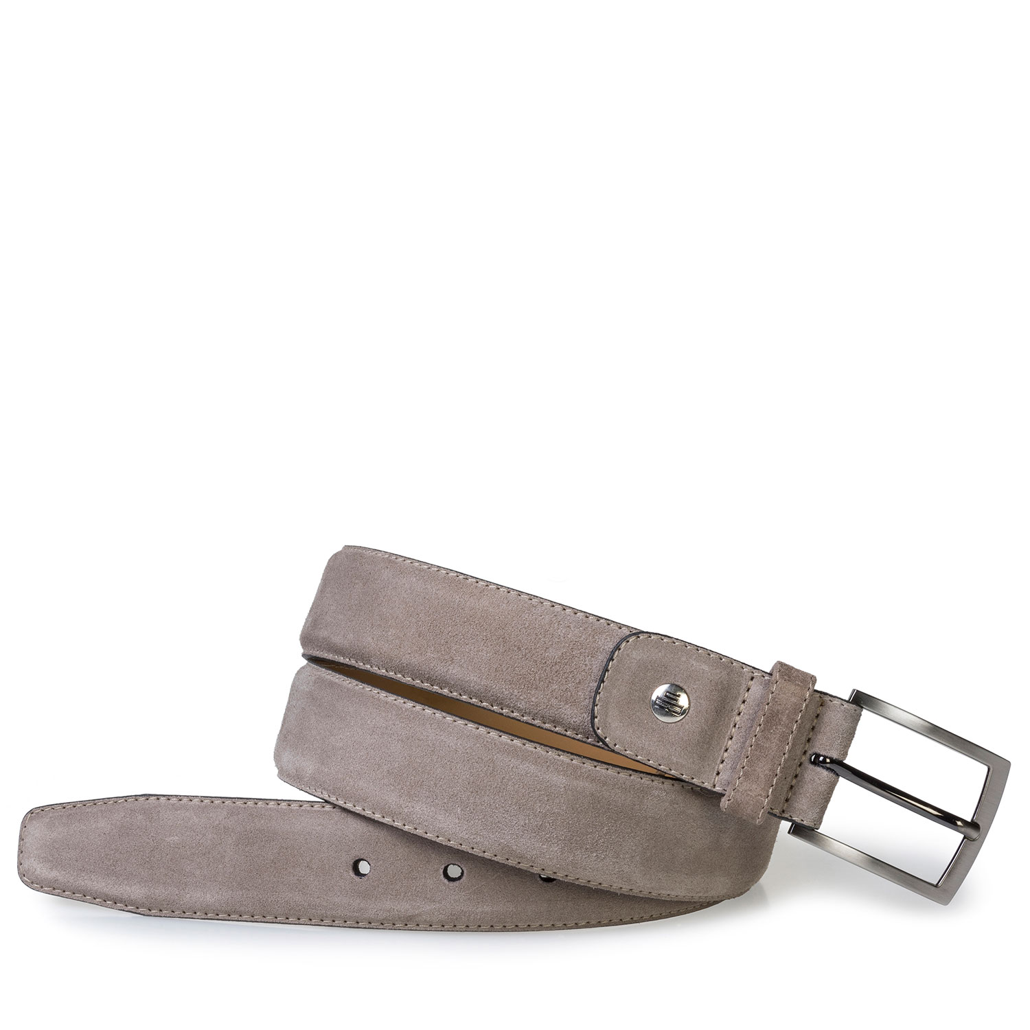 75076/38 - Taupe-coloured suede belt