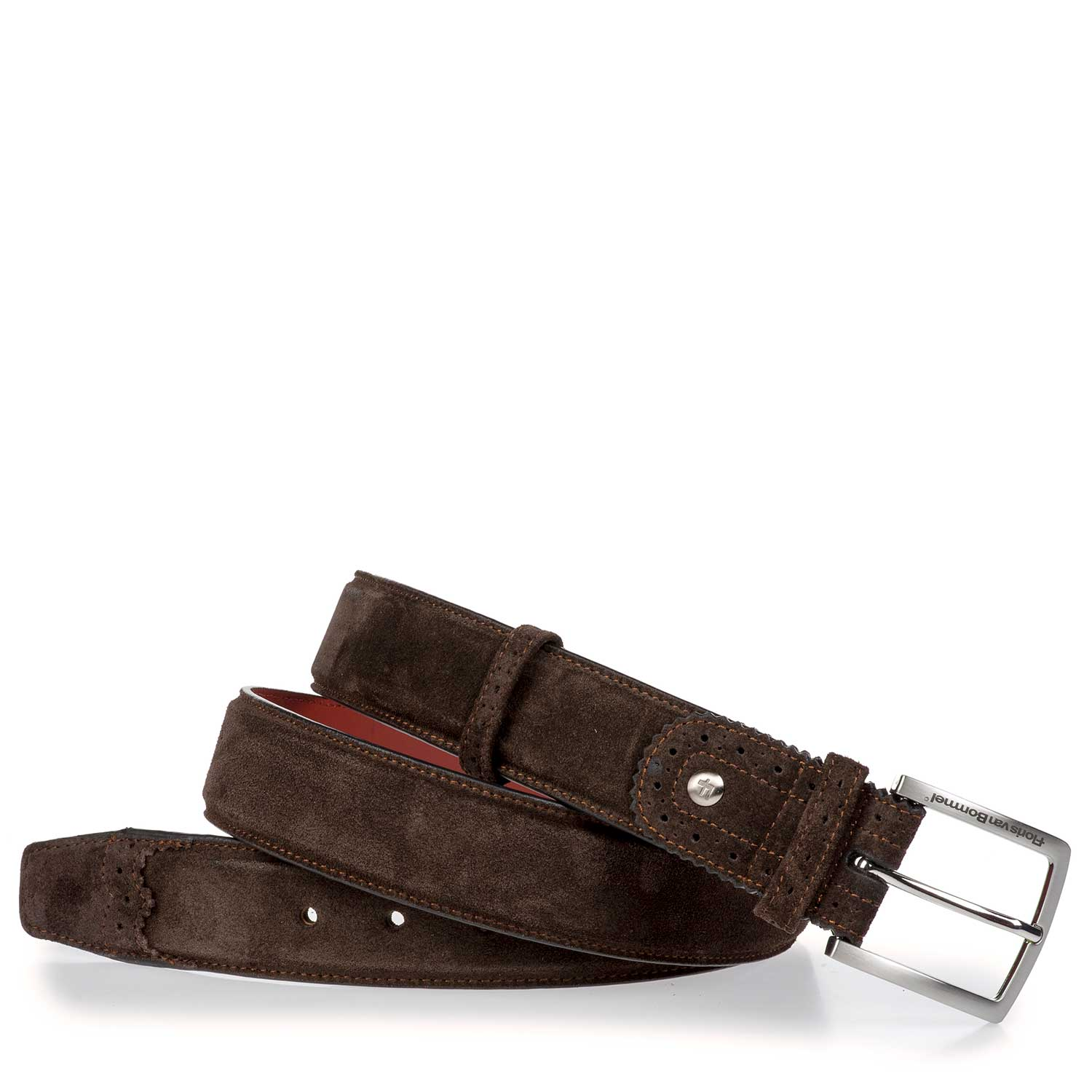 75171/15 - Brown suede leather belt