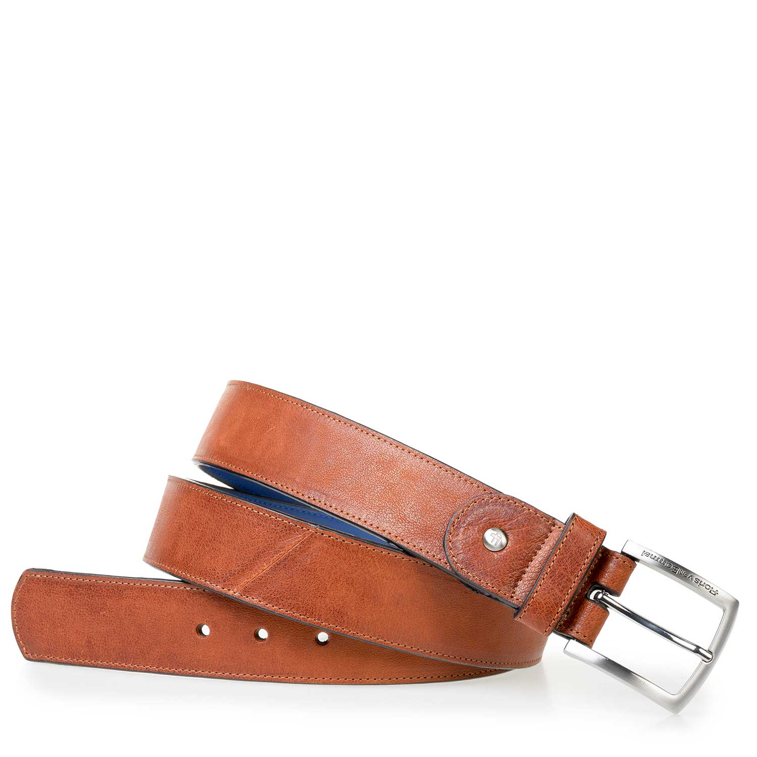 75166/23 - Cognac-coloured leather belt