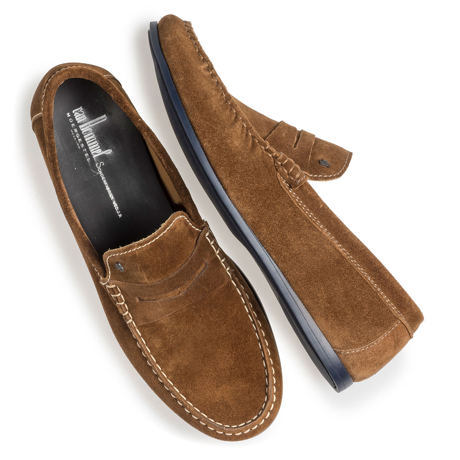 15038/02 - Brauner Wildleder-Loafer