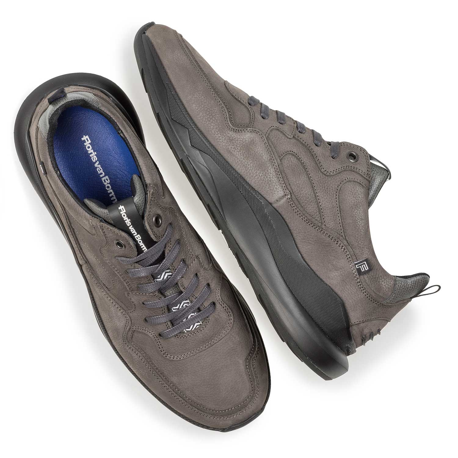 16269/05 - Dark grey nubuck leather sneaker