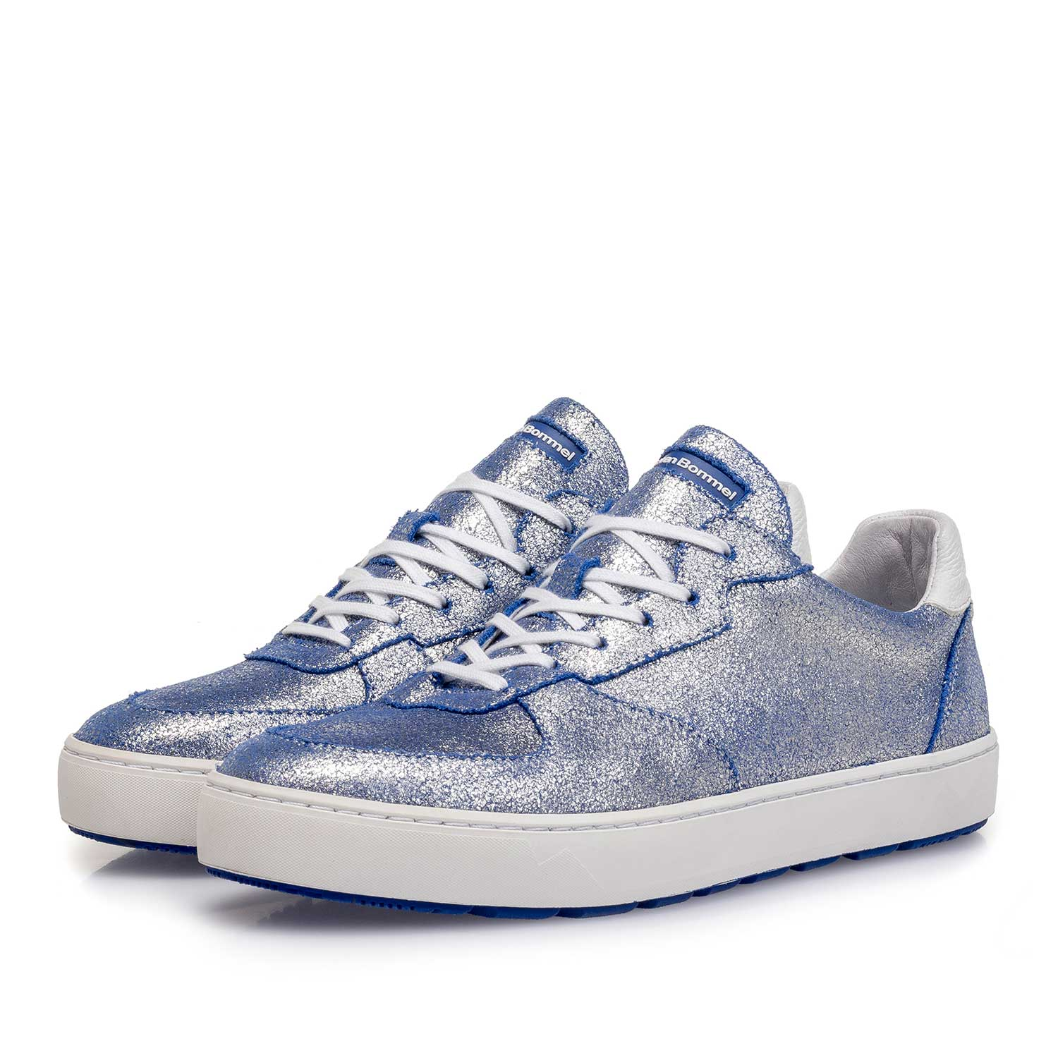 85272/17 - Silver metallic leather sneaker with changing effect
