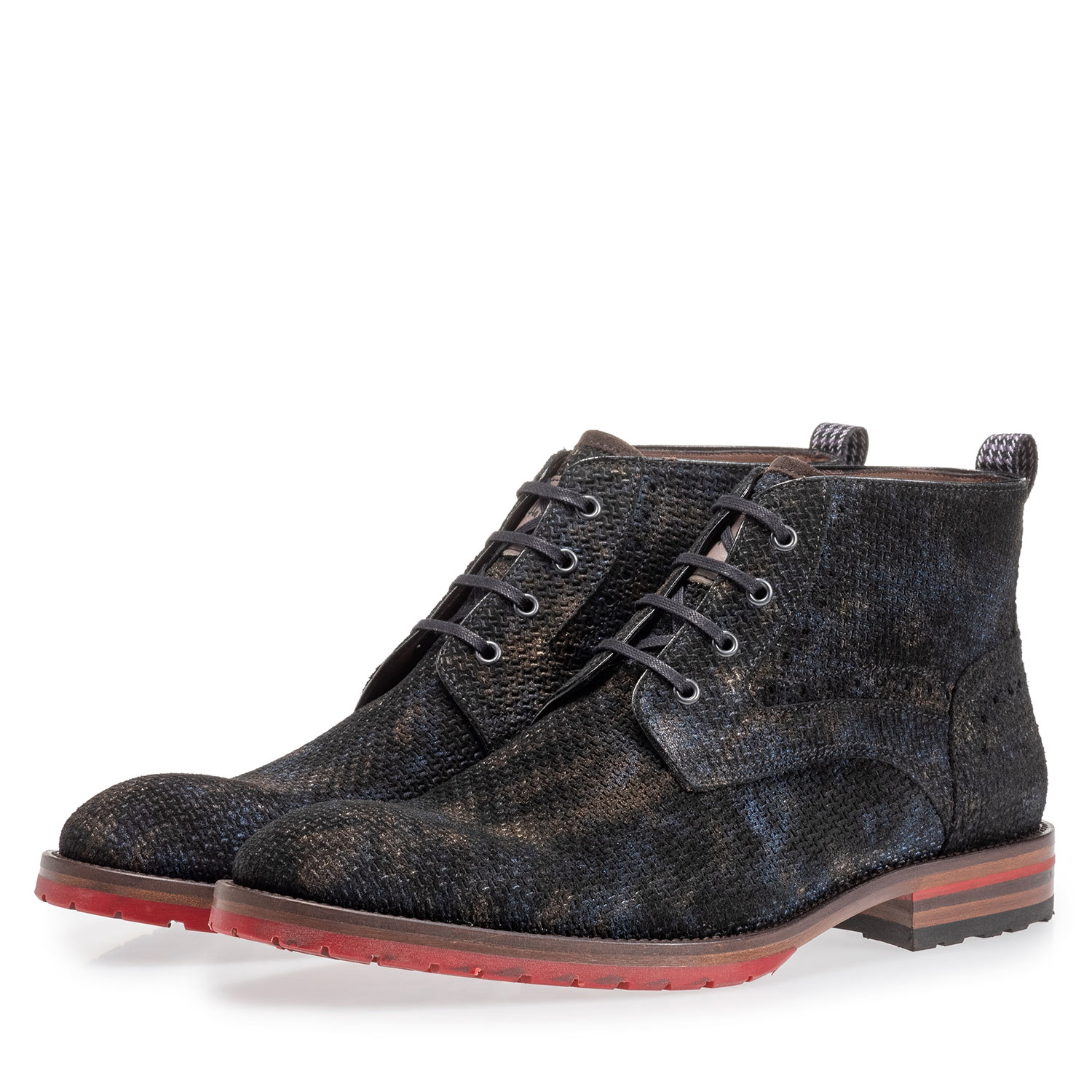 10317/29 - Lace boot bronze with print