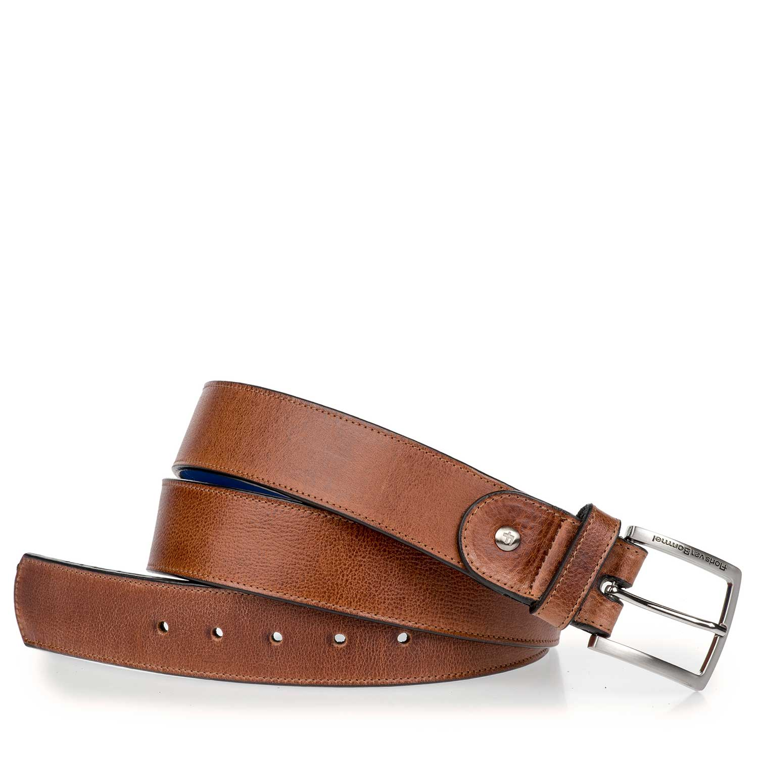 75157/07 - Cognac-coloured leather belt