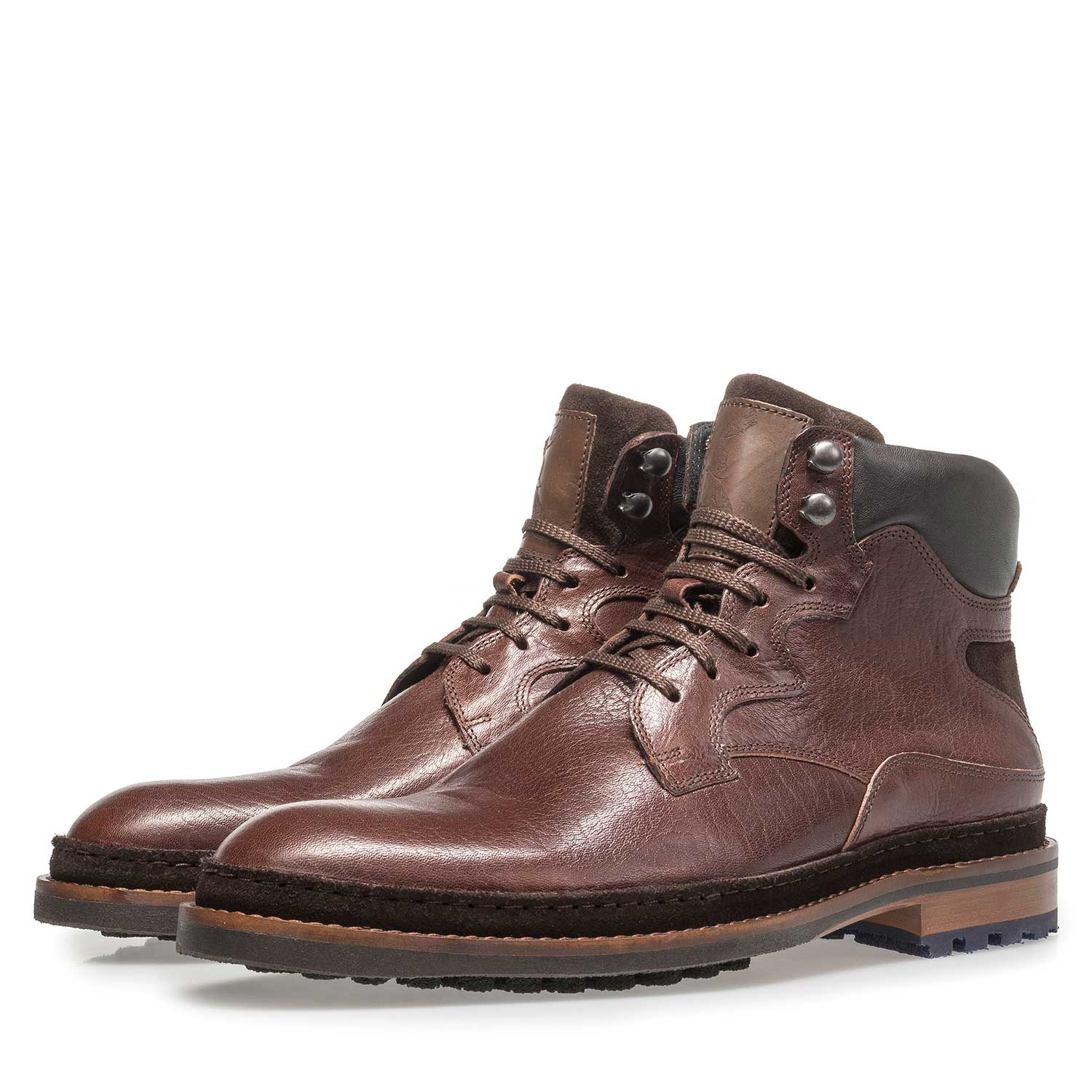 10503/00 - Red-brown calf leather boot