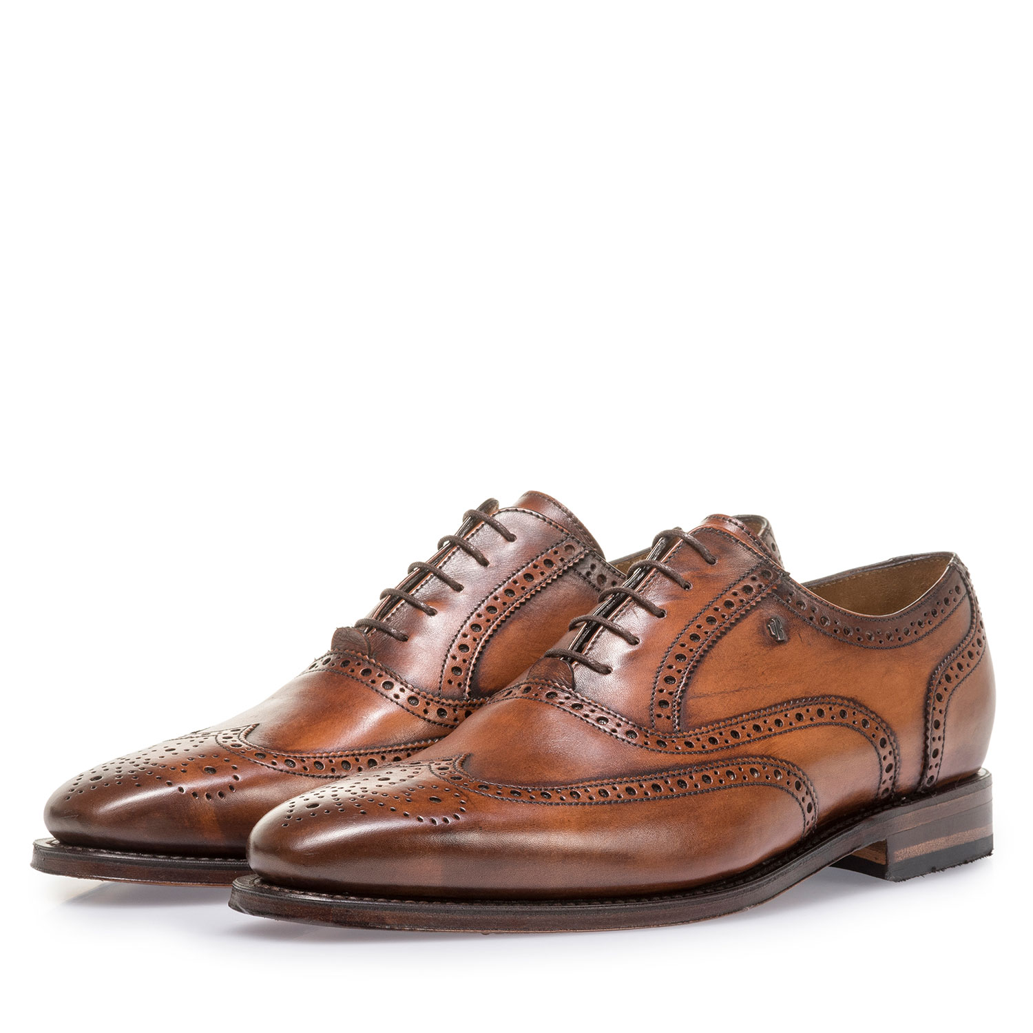 19125/00 - Dark cognac-coloured calf leather brogue