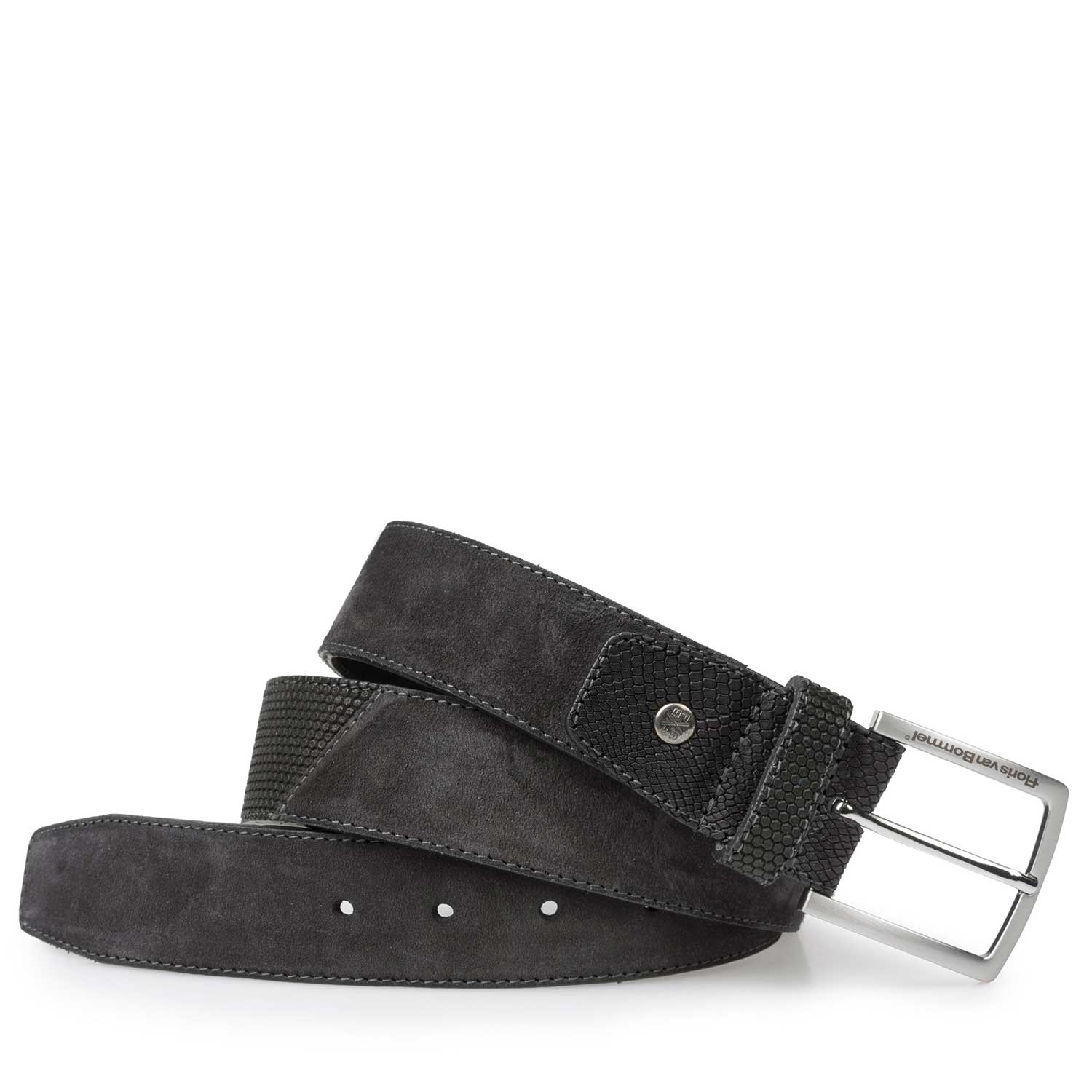 75161/16 - Grey calf's suede leather belt