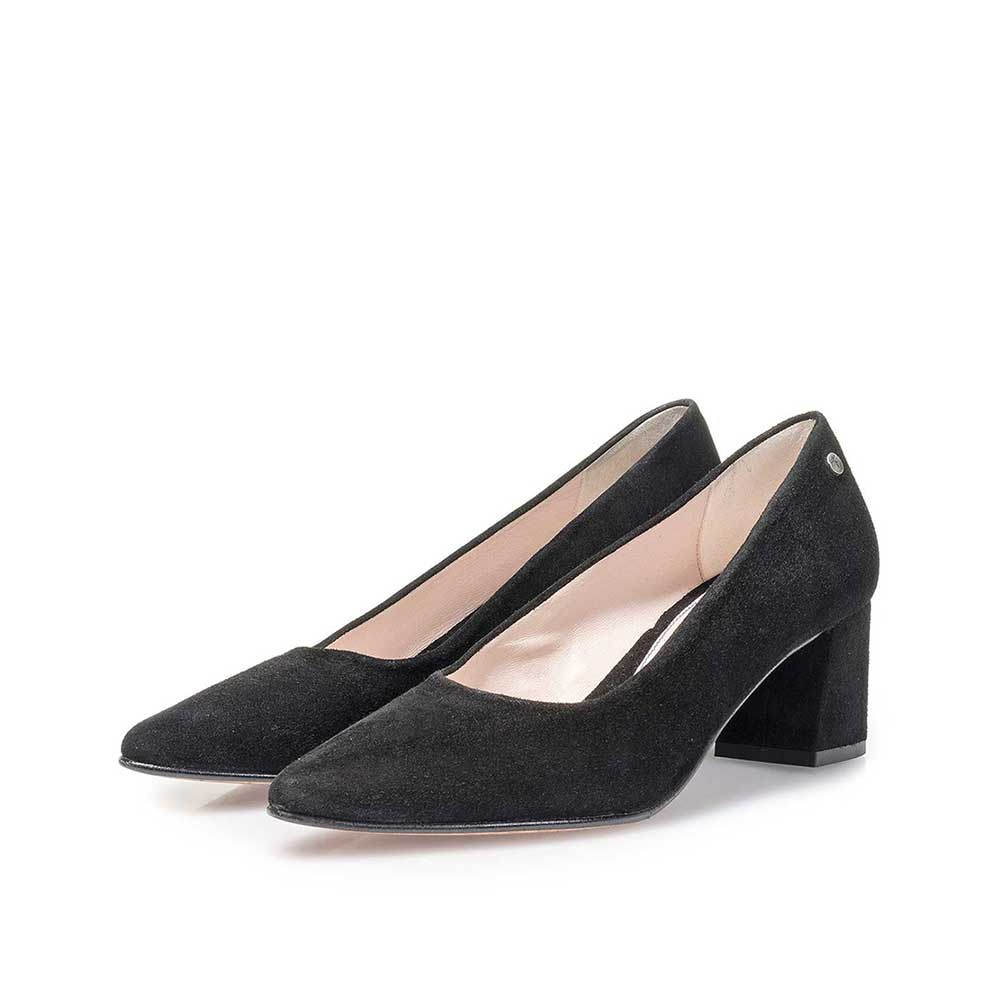 85518/08 - Schwarze Wildleder-Pumps