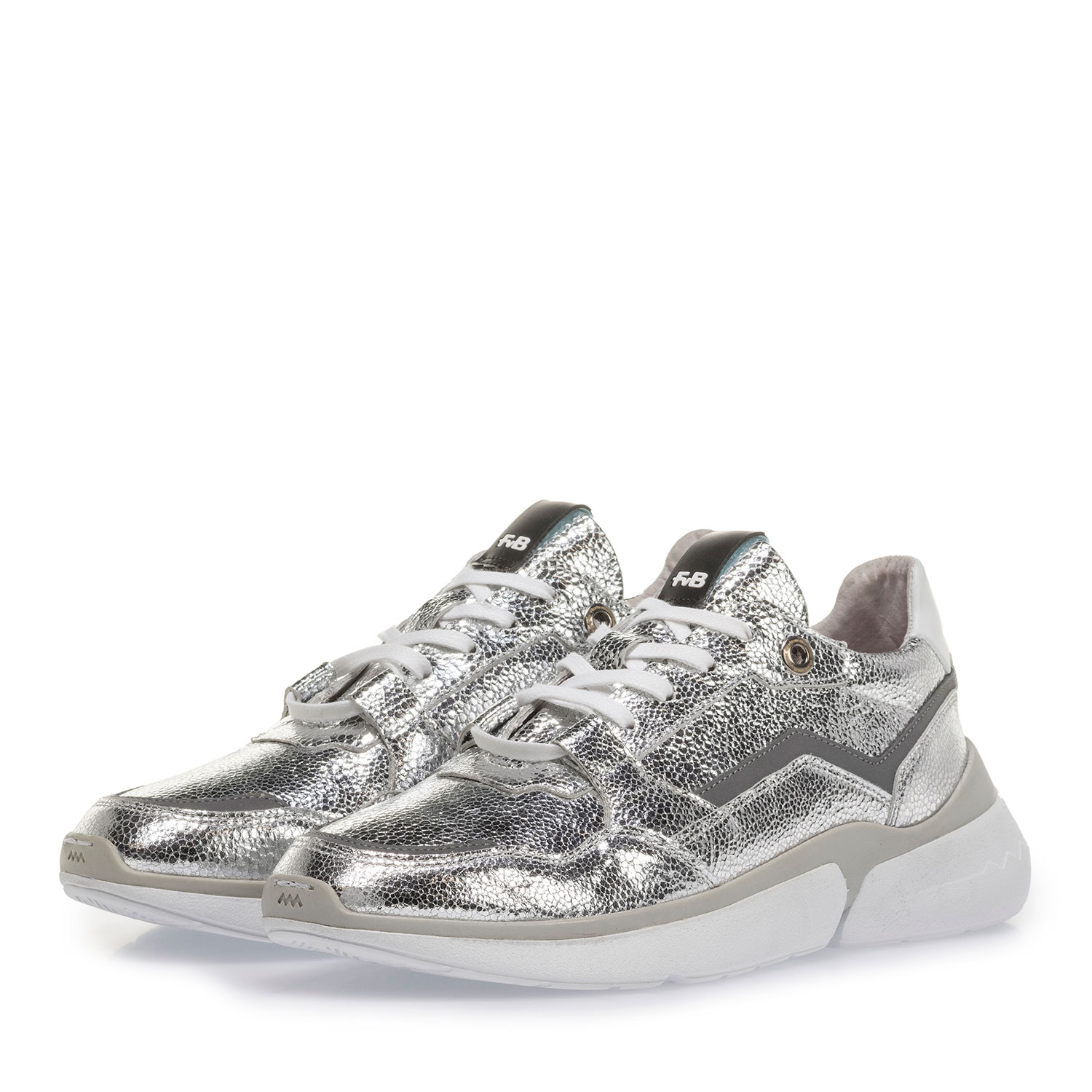 85291/16 - Silver sneaker with metallic print
