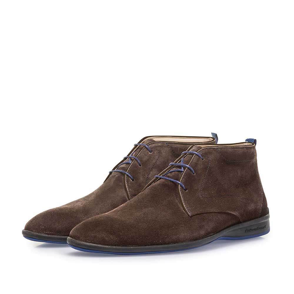 20300/12 - Brown suede leather lace boot