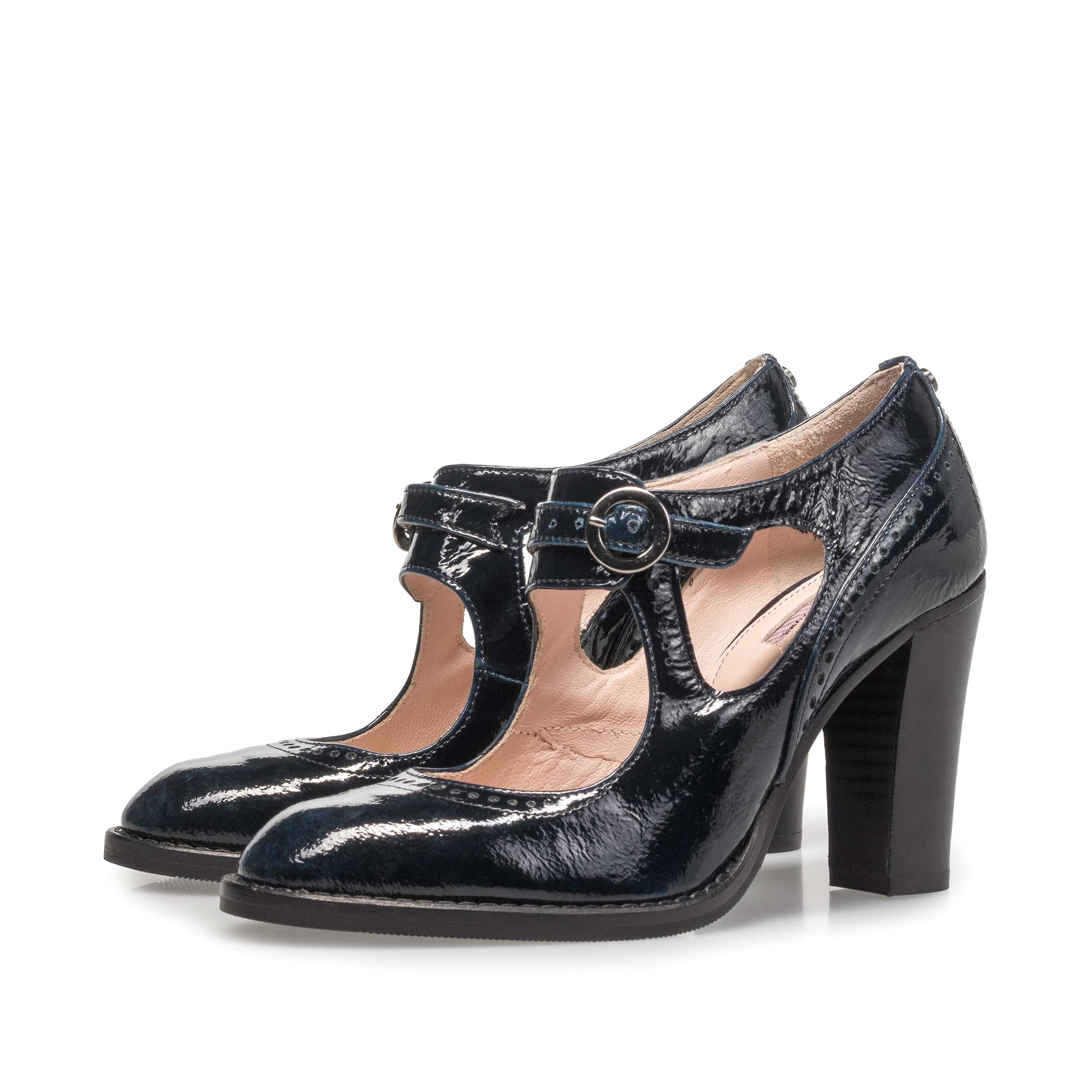 85532/01 - Blaue Lackleder-Pumps
